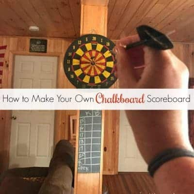 How to Make Your Own DIY Chalkboard Scoreboard