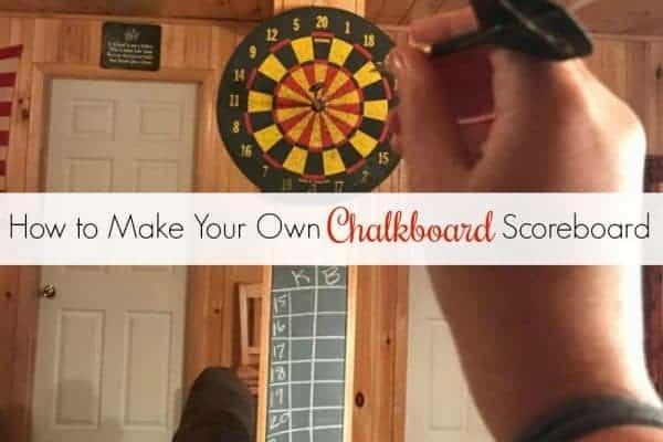 How to Make Your Own DIY Chalkboard Scoreboard
