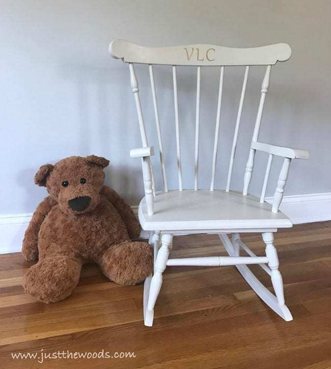 custom stencil cricut projects, painted rocking chair