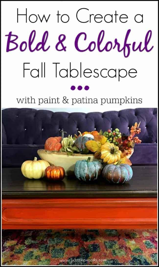How to Create a Bold & Colorful Fall Tablescape by Just the Woods
