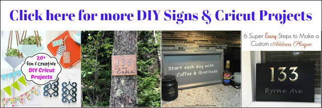 address signs, diy signs, cricut