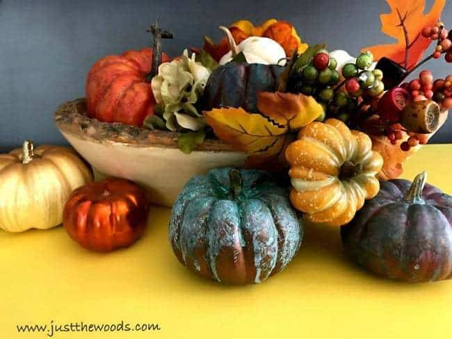 Colorful Fall Tablescape, yellow painted furniture, decor ideas