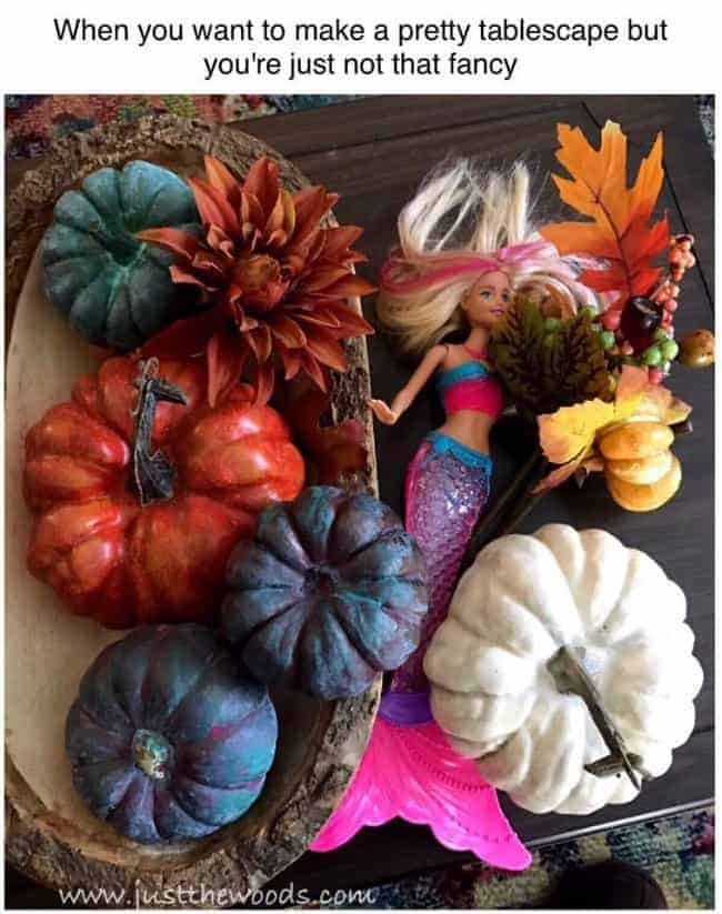 fall decor meme, decorating with kids, fall tablescape, home decor