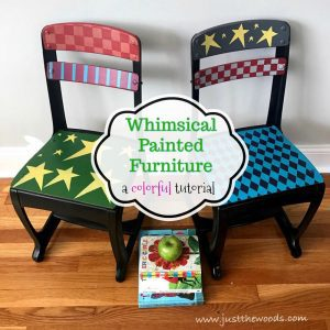 whimsical painted chairs