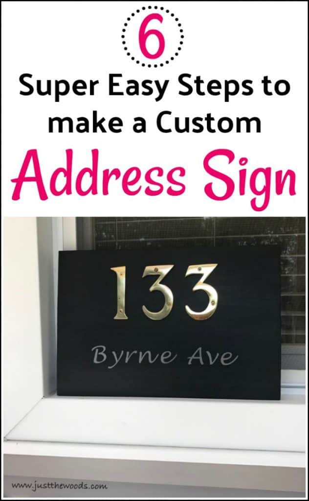 6 Super Easy Steps to make a Custom Address Plaque