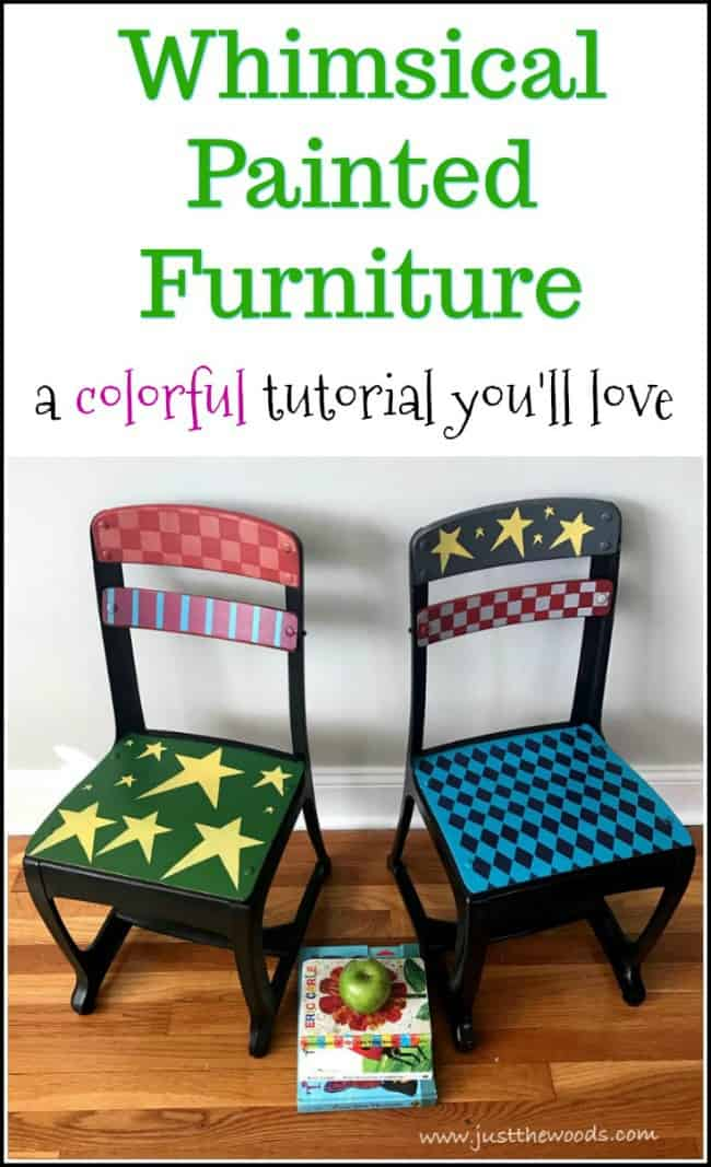 Whimsical Painted Furniture - A Colorful Tutorial You'll Love
