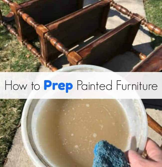how to paint furniture, prep furniture, clean sand prime