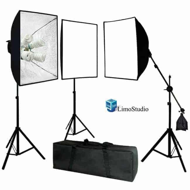 light kit, overhead boom, photography equipment