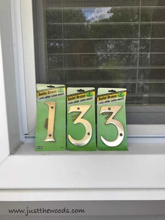 brass house numbers, house number sign, plaque, stencil