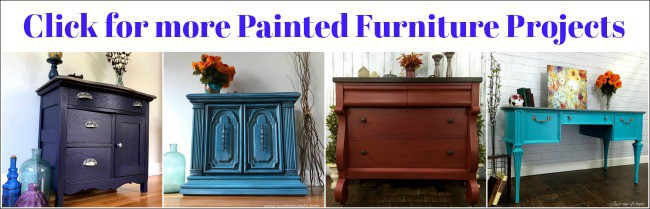 painted furniture, decoupage, painted tables