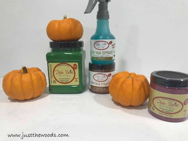 dixie belle, patina paint, patina spray, painting pumpkins, fall decor, fall tablescape, decor ideas