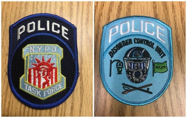 nypd police patches