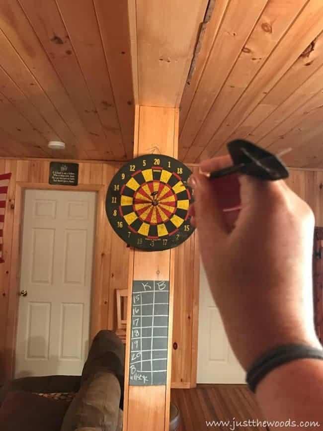 chalkboard, dart game, scoreboard, diy, cabin
