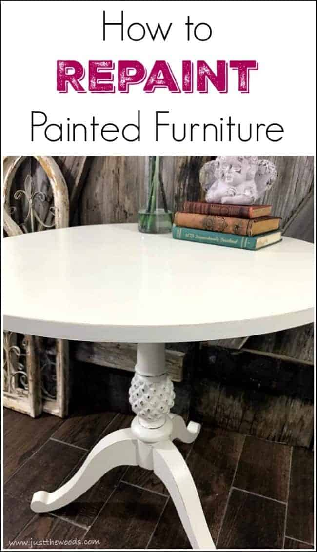 Repainting Painted Furniture How To Paint Over Painted Wood Furniture