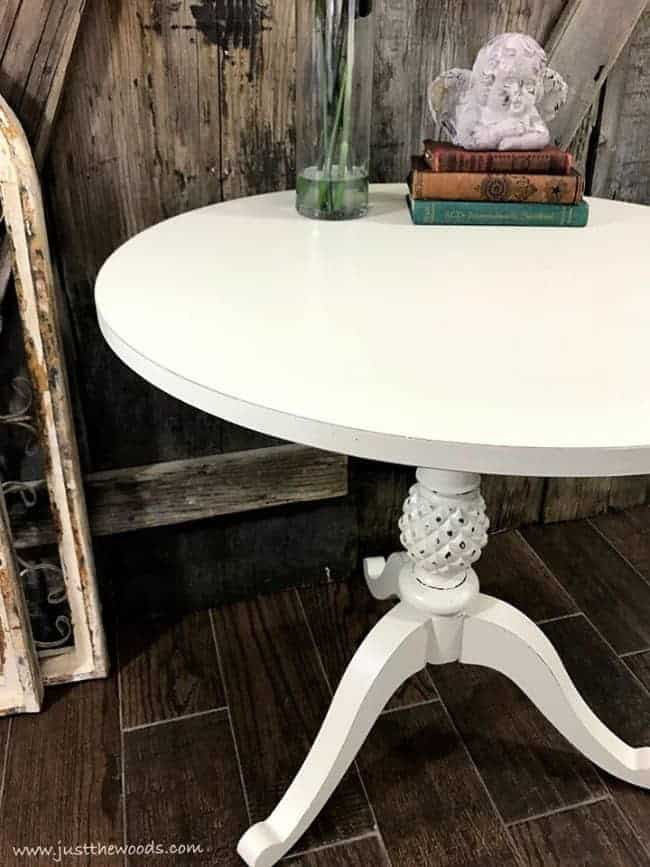 How To Repaint Furniture, Painted Pedestal Table