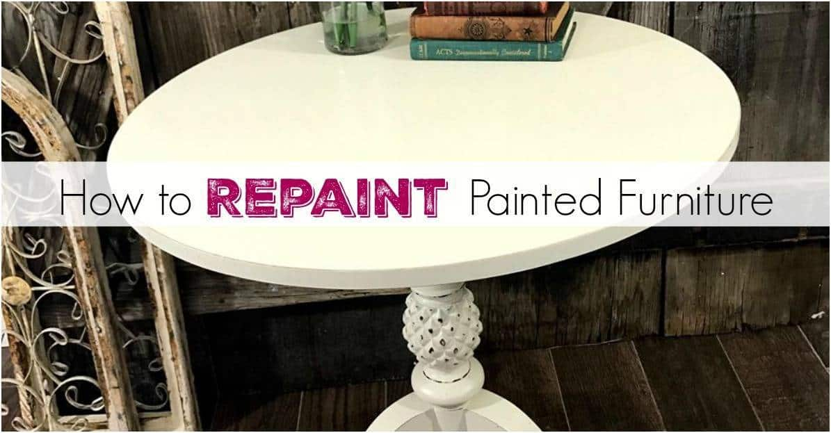 repainting furniture with chalk paint