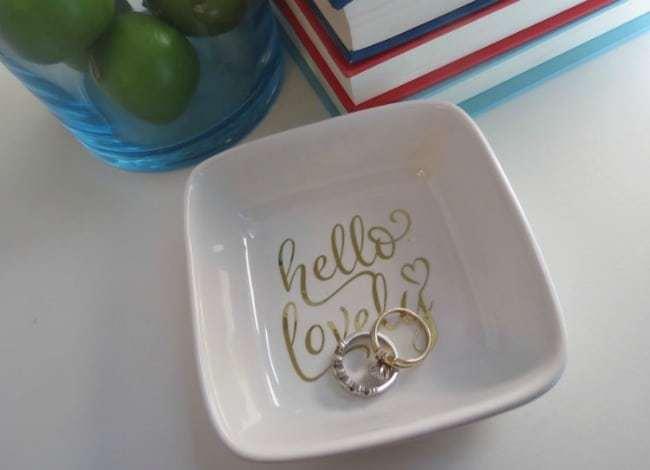 ring dish, cricut