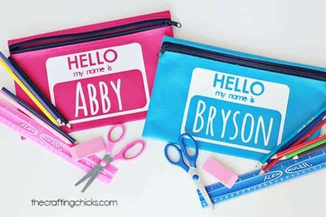 diy personalized pencil case