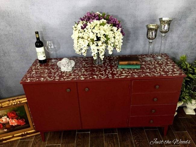 stencil painted furniture, tutorials