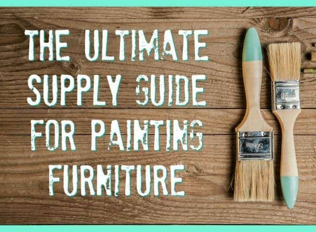 supply list for painting furniture