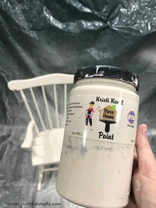 pure home paint, off white chalk paint, non toxic paint
