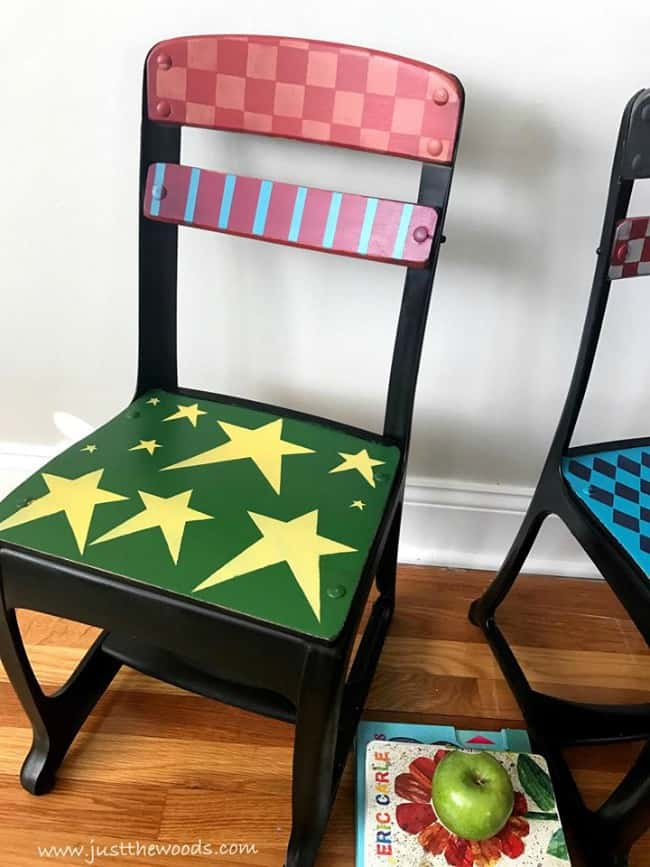 stars and stripes painted furniture, painted chairs