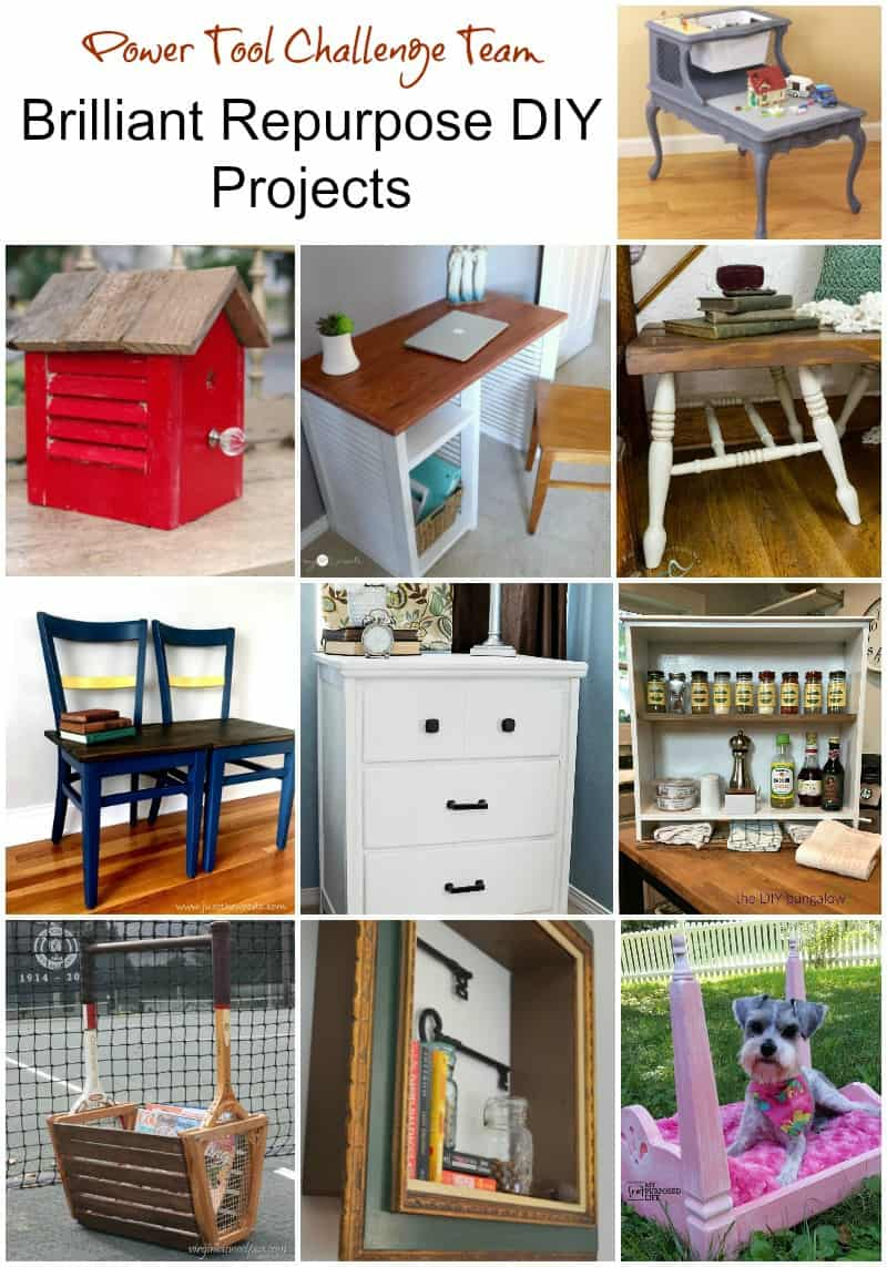 power tool challenge, ryobi, repurpose projects