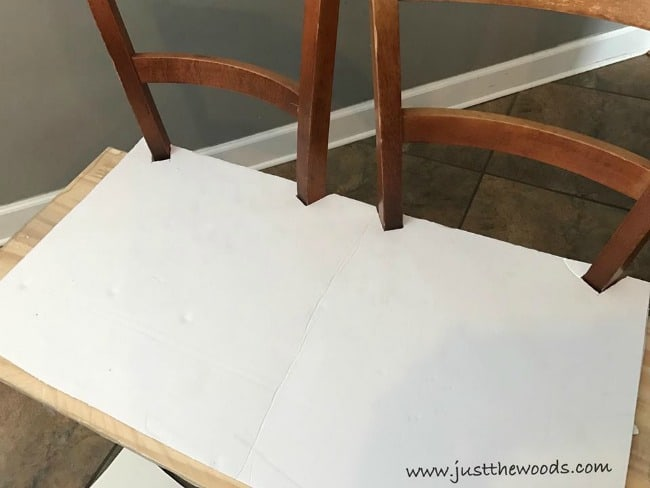 Template Angled Notches Posterboard Make A Bench