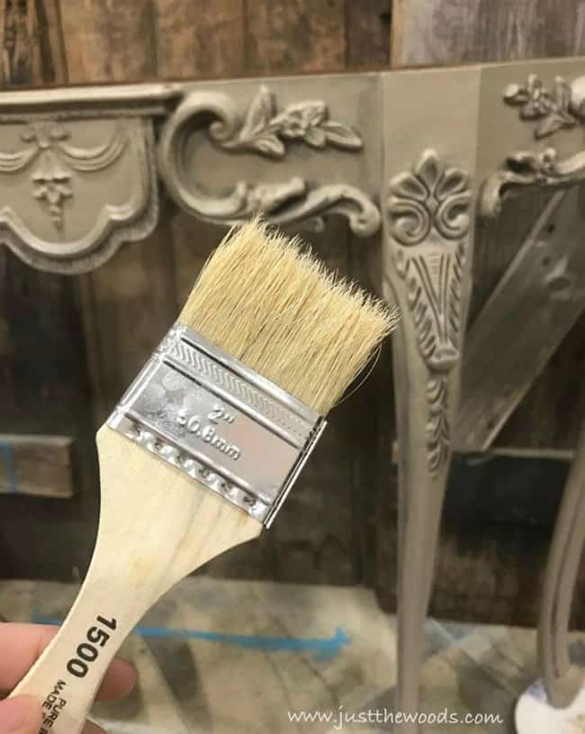 chip brush, distress painted furniture, wet distress, how to distress painted furniture