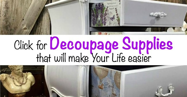 decoupage supplies, where to find decoupage supplies, what do i need to decoupage