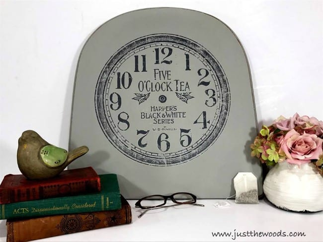 repurpose, dixie belle, chalk paint, image transfer sign, diy sign, clock image transfer