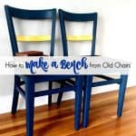 How to Make a Unique Bench from Chairs