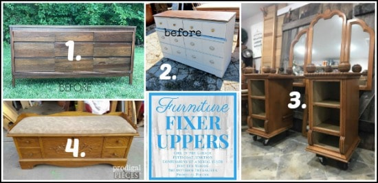 How to paint decoupage furniture a bold peacock vanity for Does the furniture stay on fixer upper