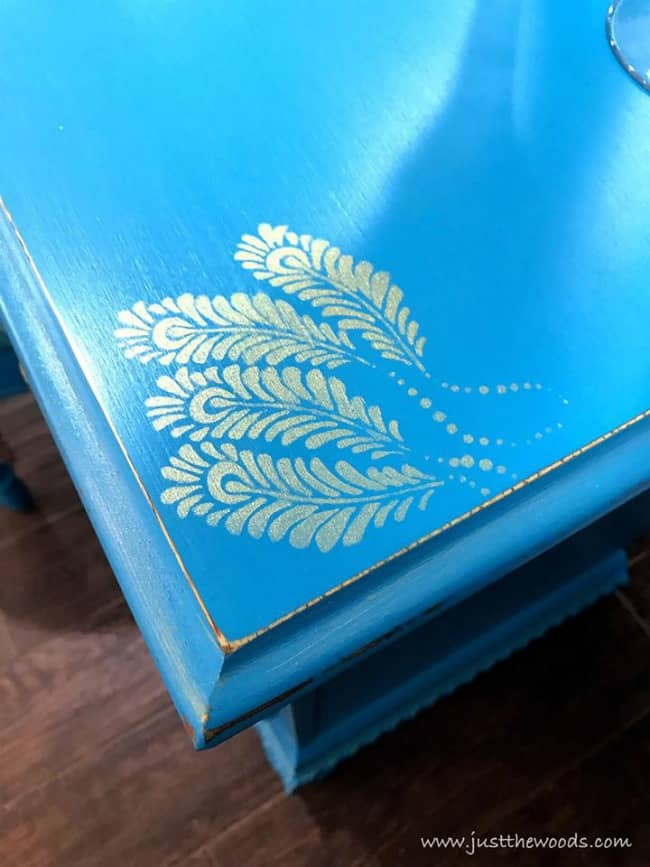 metallic feather stencil, gold feathers, feather stencil