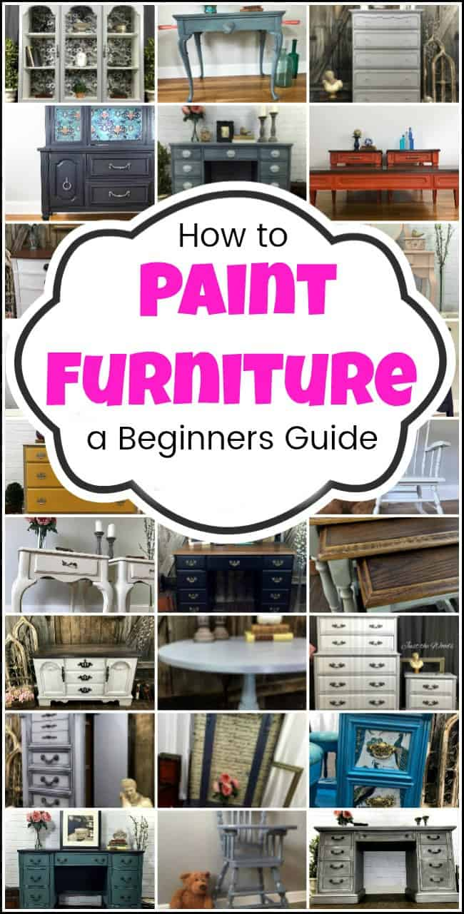 How to Paint Furniture, a beginners guide, and tutorial. step by step tutorial from start to finish. Find a piece of furniture to paint. Supplies, prep, techniques - glaze, decoupage, stencil, layering chalk style paint, using paint sprayer and more. Then staging and photography of your finished painted furniture project. how to paint furniture. painted furniture, furniture painting, #howtopaintfurniture #paintingfurniture #furniturepainting