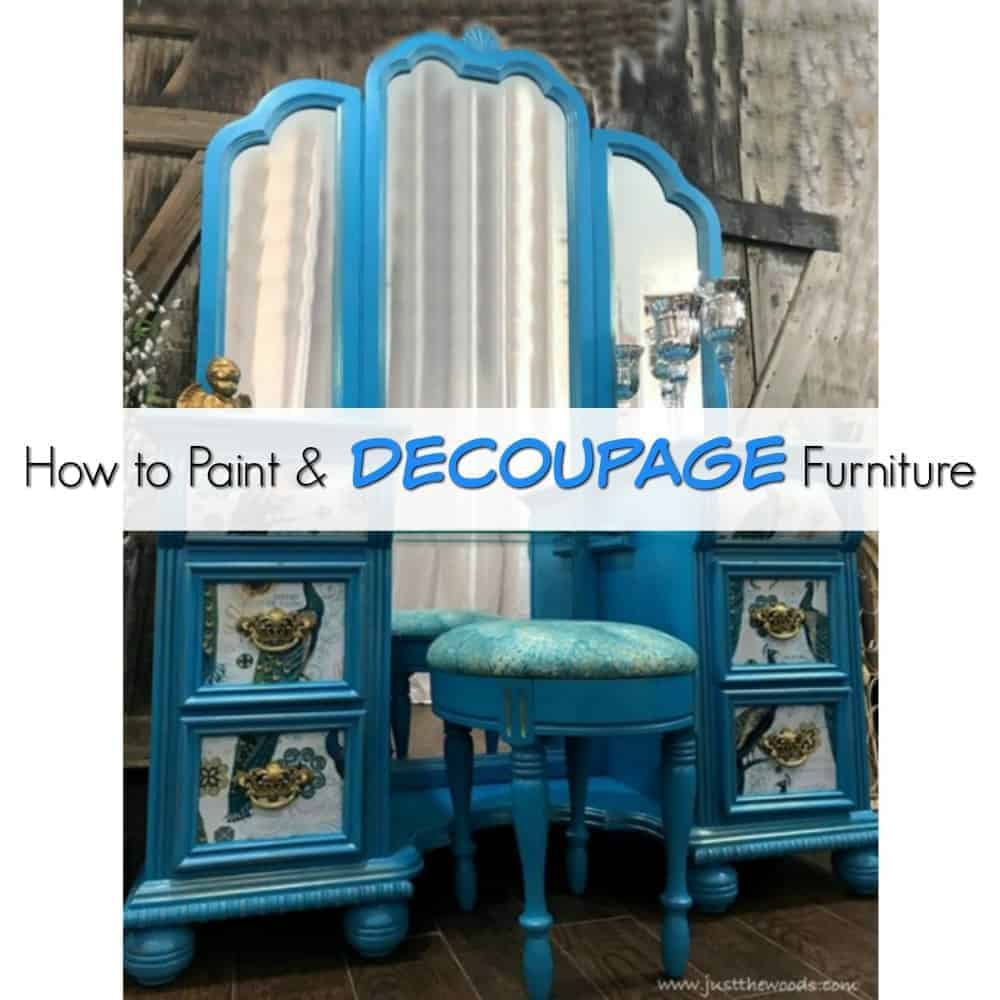 Superb How To Paint Decoupage Furniture A Bold Peacock Vanity Machost Co Dining Chair Design Ideas Machostcouk