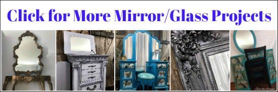 how to paint mirror, chalk paint mirror frame