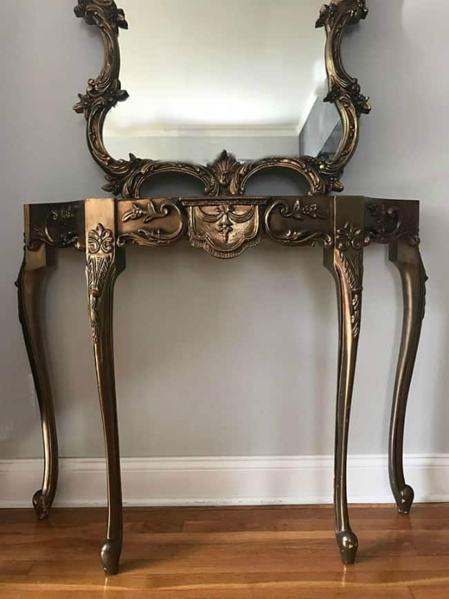 ornate furniture, distress furniture, painted table