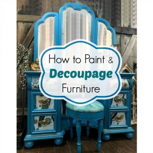 paint decoupage vanity