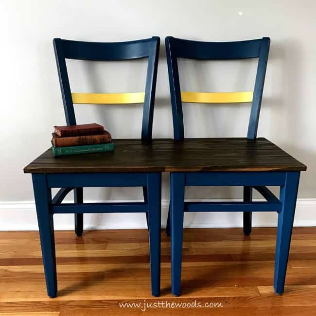 bench from chairs, diy bench, repurpose chairs to bench