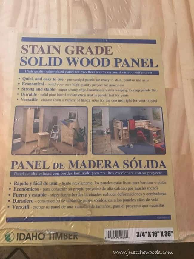stain grade wood panel