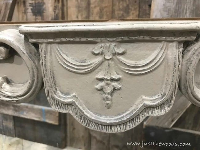 how to distress furniture, antique furniture, age painted furniture, make paint look worn, wet distress painted furniture