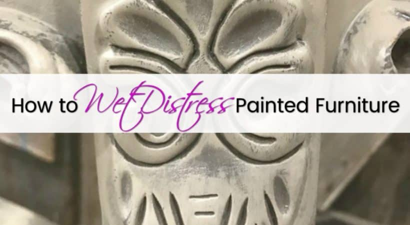 The Best No Mess Method to Distress Painted Furniture