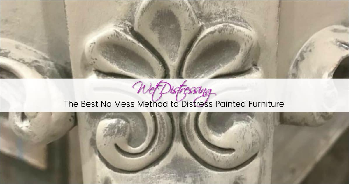 wet distressing, distress painted furniture