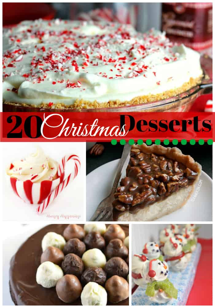 christmas desserts, christmas dessert recipes, christmas cookie recipes, truffles, brownies, pecan pie