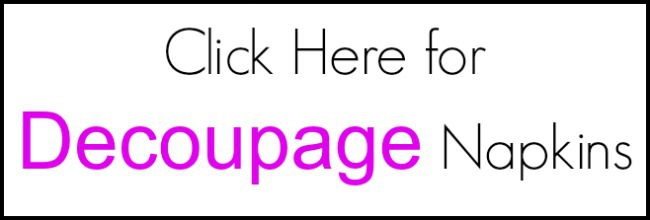 decoupage supplies, decoupage materials, decoupage napkins
