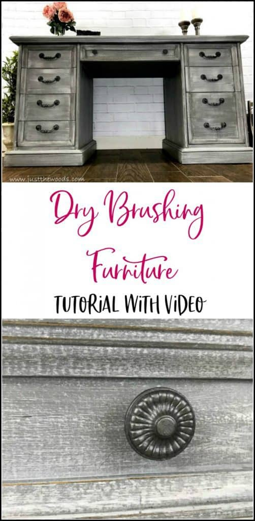 dry brushing furniture, dry brushing tutorial, dry brush technique