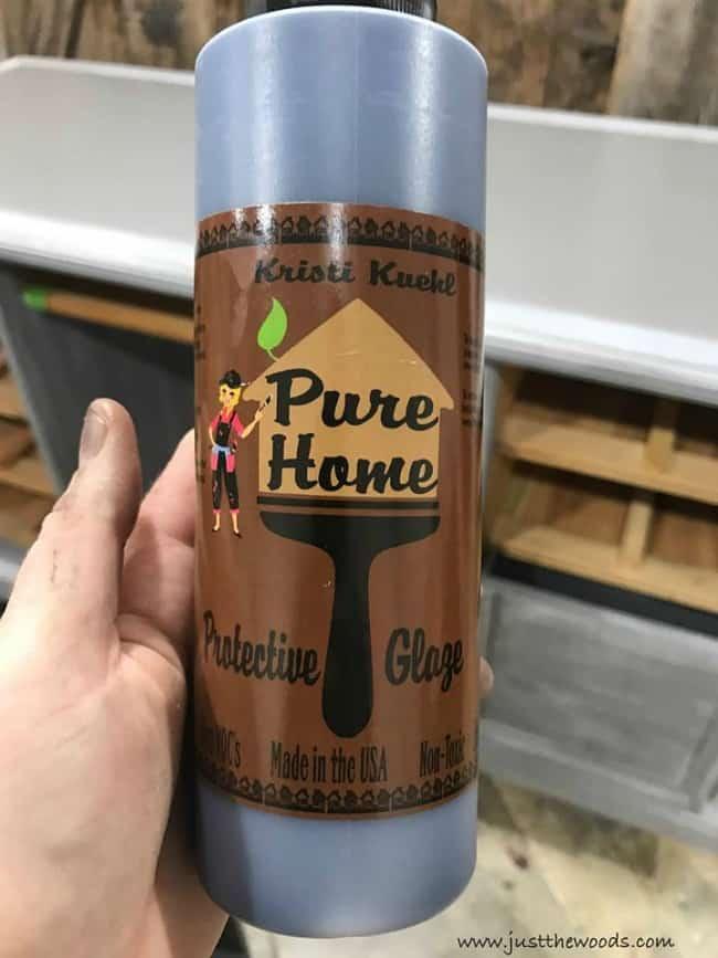 pure home paint, ebony glaze, protective glaze