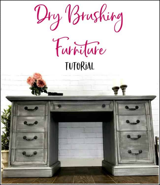 furniture painting technique dry brush