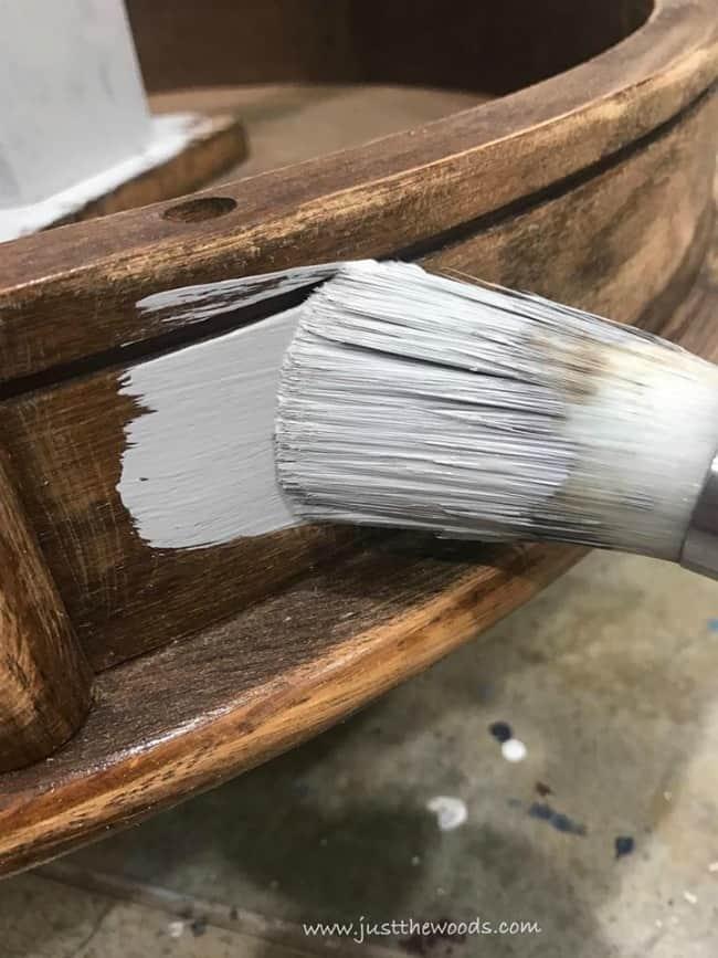 gray chalk paint, chalk painted furniture, dixie belle paint, driftwood gray
